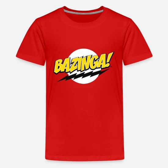 Big T-shirts - The Big Bang Theory Bazinga! Ado Tee Shirt - T-shirt premium Ado rouge