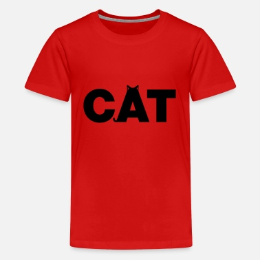 CAT - Statement für Katzenmamas & Catwomen - Teenager Premium T-Shirt