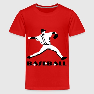 Baseball, Baseball Player - Teenager Premium T-Shirt