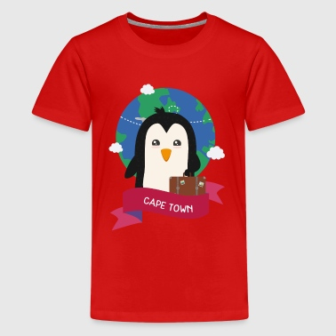 Penguin Globetrotter from CAPE TOWN Sbasbc - Teenage Premium T-Shirt