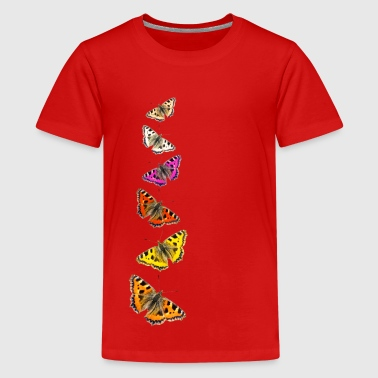Collage de papillons - T-shirt Premium Ado