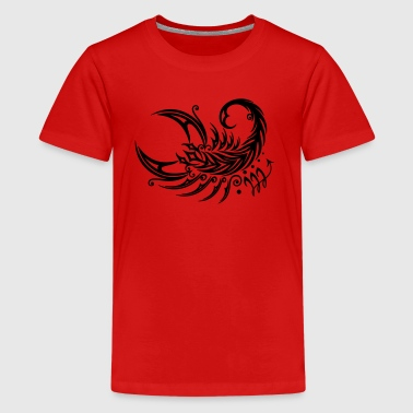 Großer Skorpion im Tribal & Tattoo Style - Teenager Premium T-Shirt