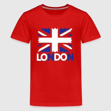 LONDON  text UK Flag - Teenage Premium T-Shirt