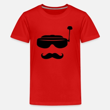 FPV glasses and mustache - Teenage Premium T-Shirt