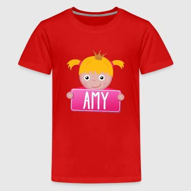 Little Princess Amy - Teinien premium t-paita