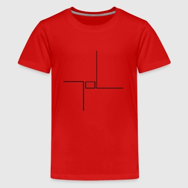 Rectangle Lines Lines with rectangle - Teenage Premium T-Shirt