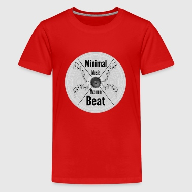 Minimal Music - Maximum Beat, Clubbing Music Wear - Teenage Premium T-Shirt