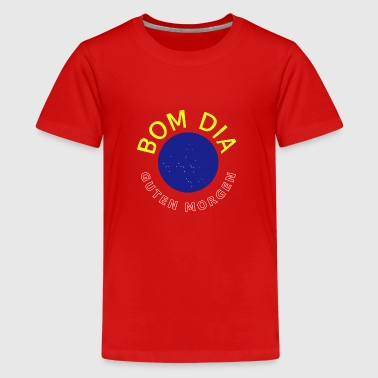Cultura Brazilian Gift Idea Good morning Bom Dia - Teenage Premium T-Shirt