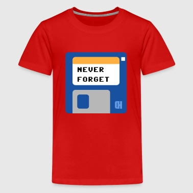 Diskette 2,5 Zoll never forget - Teenager Premium T-Shirt