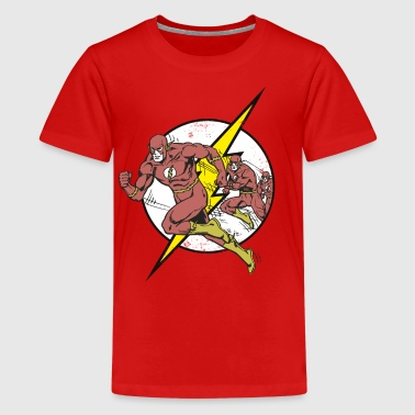 DC Comics Originals Flash Court Rétro - T-shirt Premium Ado