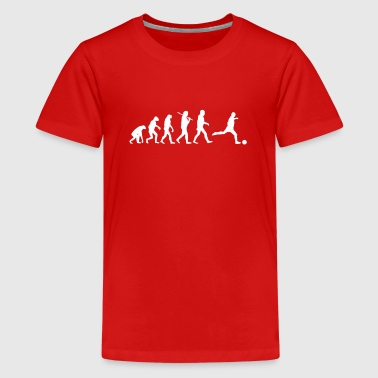 Evolution of Fussball - Teenager Premium T-Shirt