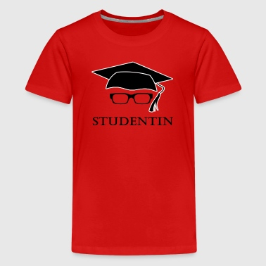 Student freshman graduation glasses black - Teenage Premium T-Shirt