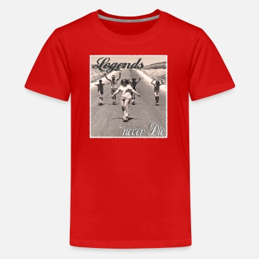 Longboard Longboard Legends never Die - The Logan Family - Teenager Premium T-Shirt