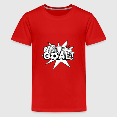 Soccer Goal - Teenage Premium T-Shirt