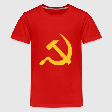 hammer and sickle / soviet union / russia - Teenage Premium T-Shirt