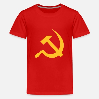 Communisme hammer and sickle / soviet union / russia - Teenager Premium T-shirt