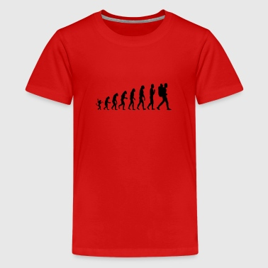 Die Evolution des Wandern / Backpacker T-Shirt - Teenager Premium T-Shirt