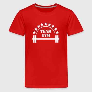 Team Gym  Fitness Bodybuilding workout Gewichten - Teenager Premium T-shirt