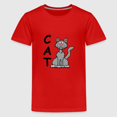 shaggy cat - Teenage Premium T-Shirt