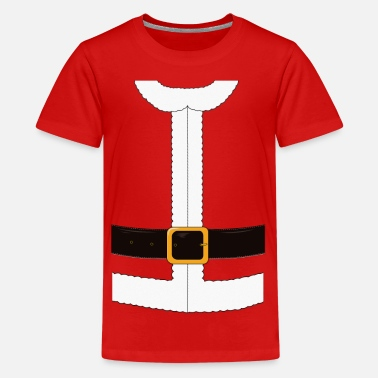 Funny Funny Santa Claus / Christmas costume - Teenage Premium T-Shirt