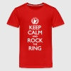 Keep Calm And Rock The Ring, Festival Shirt - Teenager Premium T-Shirt