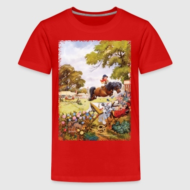 Pony toernooi Thelwell Cartoon - Teenager Premium T-shirt
