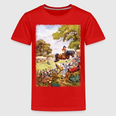 Paarden Cartoon Pony toernooi Thelwell Cartoon - Teenager Premium T-shirt