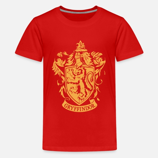 Potter T-paidat - Harry Potter Gryffindor Coat of Arms - Teinien premium t-paita punainen