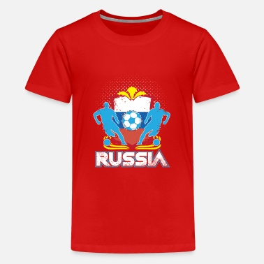 Officialbrands World Soccer Russia / Football Love T-Shirt - Premium-T-shirt tonåring