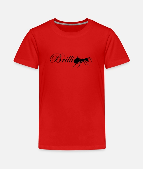 Brilliant T-Shirts - BrilliAnt Ameise Wortspiel Spruch Logo - Teenager Premium T-Shirt Rot