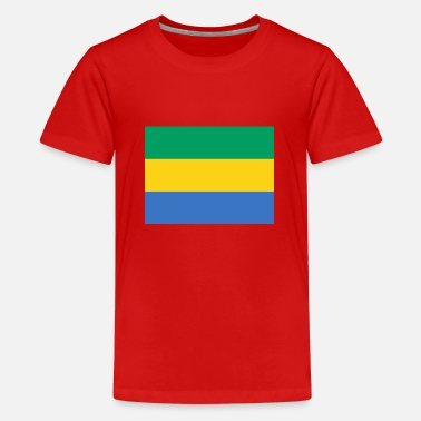 Tætne Gabon Flagg - Premium T-shirt teenager