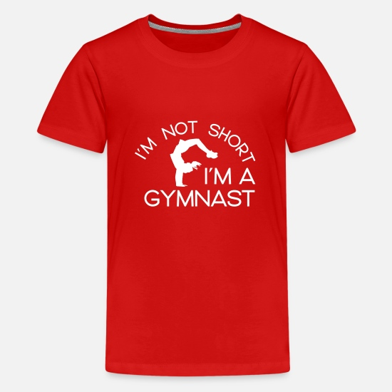 Gymnastic T-Shirts - Gymnastics Gymnast Gymnast Woman Gymnast Gift - Teenage Premium T-Shirt red