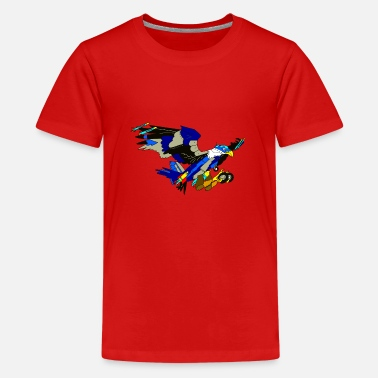 Transformator Eagle / Jet fighter transformer - Teenager premium T-shirt
