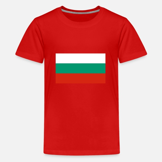 Country T-shirts - Bulgarien flag - Premium T-shirt teenager rød