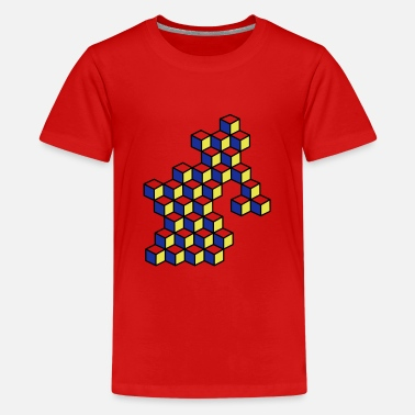 Dice and dice in bright colors - Teenage Premium T-Shirt
