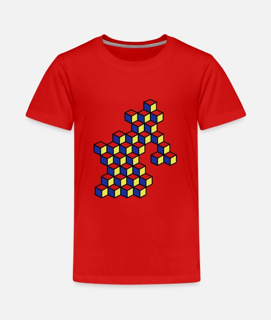 Pattern T-Shirts - Dice and dice in bright colors - Teenage Premium T-Shirt red