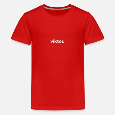 Name Gift grunge style first name Victor - Teenage Premium T-Shirt