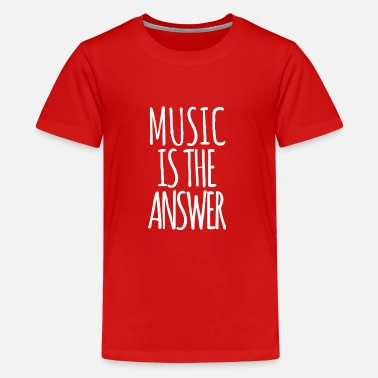 Festival Music is the Answer - Teenage Premium T-Shirt