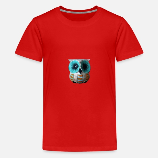 Nocturnal T-Shirts - Sweet owl - Teenage Premium T-Shirt red