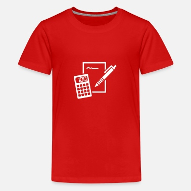 Calculator Calculator - Teenage Premium T-Shirt