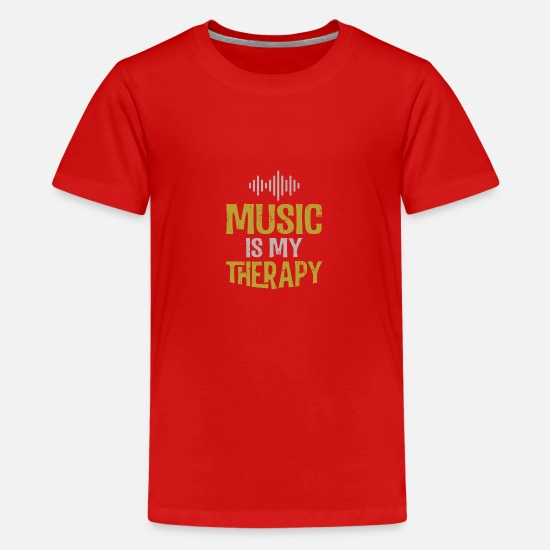 To Sing T-Shirts - Music shirt - Teenage Premium T-Shirt red