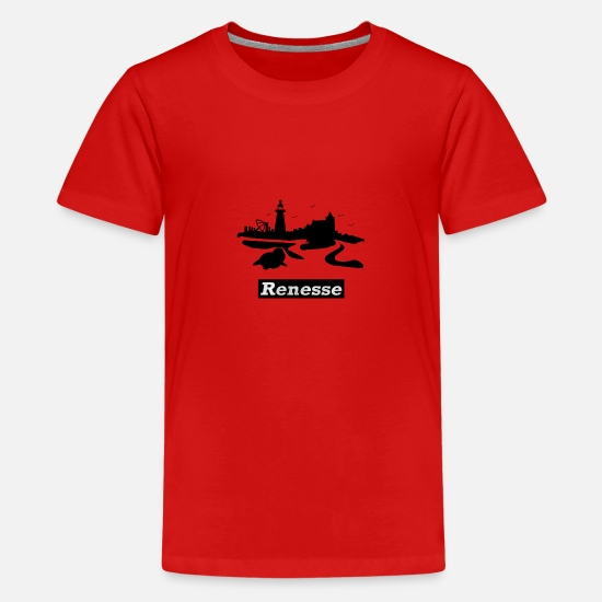 Gift T-shirts - RENESSE - Teenager premium T-shirt rood