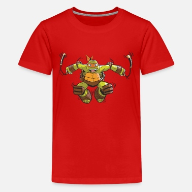 TMNT Turtles Michelangelo Ready For Action - Premium T-shirt tonåring