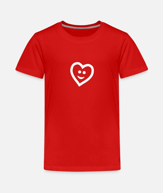 Heart T-Shirts - Heart with smile - Teenager Premium T-Shirt Rot
