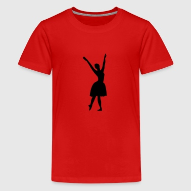 Vector Ballet dancer Silhouette - Teenage Premium T-Shirt