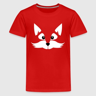 child - baby - comic - Fox - animal - fox - sly - Teenage Premium T-Shirt