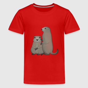 Two marmots - Teenage Premium T-Shirt