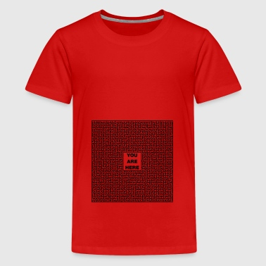 Labyrinth QR Code - Teenager Premium T-shirt