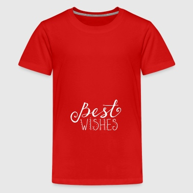 Christmas Best Wishes Gift - Premium-T-shirt tonåring