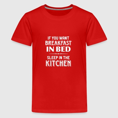 breakfast kitchen in bed breakfast in bed kitchens - Teenage Premium T-Shirt